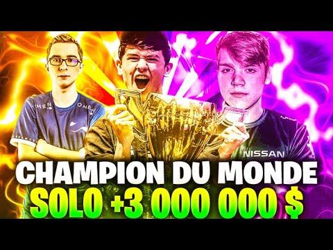 🏆LE CHAMPION DU MONDE DÉTRUIT Tous Les PROS Et Gagne 3 Millions $ 🔥 World Cup Solo Entière