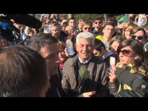 Matteo Renzi Altare della Patria 4 Novembre con Napolitano - Video