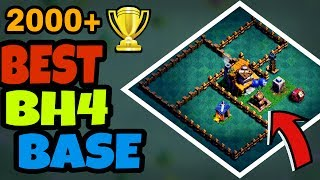 BEST Builder Hall 4 ANTI 1 STAR Base w/PROOF! / NEW CoC BH4 Base / Clash Of Clans 2017