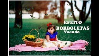 EFEITO BORBOLETAS VOANDO PHOTOSHOP