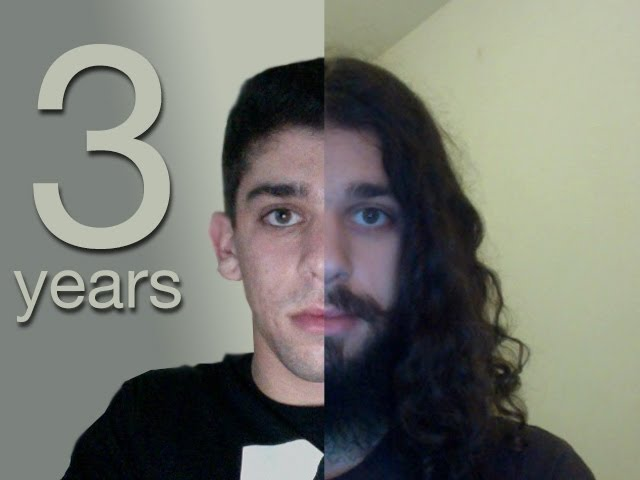 Three Years Time Lapse (growing my hair)
