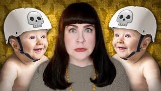 Babies in Skull Helmets