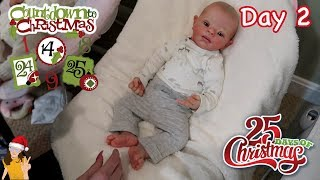 Reborn Countdown to Christmas! Changing Baby Mikey - Day 2 | Kelli Maple