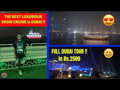 [video] The Best And Cheapest Luxurious Dhow Cruise In Dubai !! 😍🔥😱