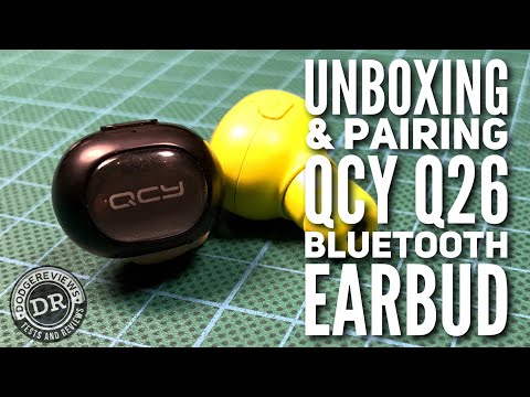QCY Yue Q26 Bluetooth Earbud unboxed