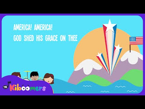 America the Beautiful Song for Kids | American Patriotic Music for Children | The Kiboomers