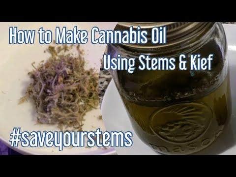 How to Make Cannabis Oil Using Stems & Kief – Easy Cannabis Coconut Oil