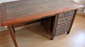 письменный стол из натурального дерева - YouTube