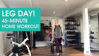 Leg Day - 45 Minute Home Workout - Fit for Self LIVE!