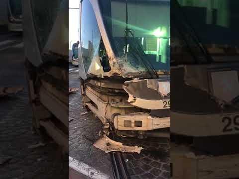 Egged Bus & Jerusalem Light Rail Collide