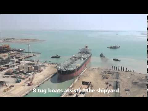 Launching of Aframax Oil tanker