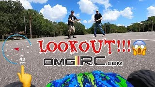 Traxxas Rustler 4x4 VXL VS Motorcycle & SPEED RUN...LOOKOUT BRO!!!!