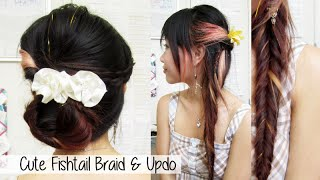 Cute Daytime Fishtail to Gorgeous Nighttime Updo