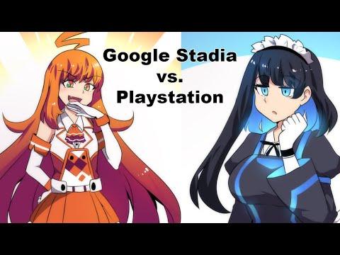 Playstation-Chan Meets Google Stadia-Chan