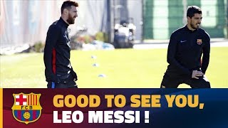 Download Video Messi returns to training after international break MP3 3GP MP4