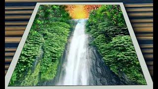 Cara melukis air terjun bagi yang baru belajar
