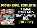 7 Proven Email Templates That Always Sell (PDF Download)