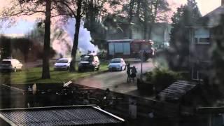 Autobrand bij Katholieke School Sint Bernardus in Ommen 2016