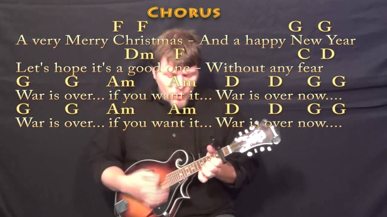 Happy X Mas War Is Over Mandolin Cover Lesson With Chordslyrics