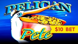 Wonder 4 Wonder Wheel Pelican Pete Slot - SUPER FREE GAMES - $10 Max Bet!