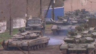 Украинские танки покидают Крым (новости)