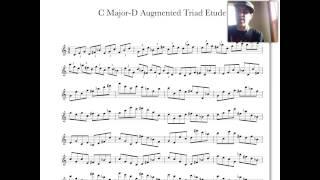 C Major & D Augmented Triad Pairs Etude