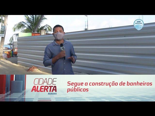 Segue a construção de banheiros públicos na orla de Maceió
