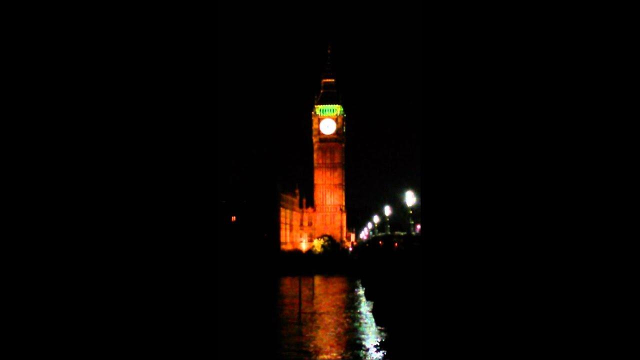 London (Big Ben ringing at night time) - YouTube