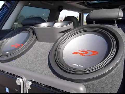how to build a woofer box in a mini cooper with alpine swr. Black Bedroom Furniture Sets. Home Design Ideas
