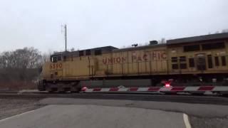 Railfanning UP Fairfax Beverly Bertram and C Street Cedar Rapids, IA