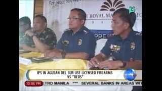 NewsLife: Indigenous peoples in Agusan Del Sur use licensed firearms vs. NPA rebels || July 16, 2014