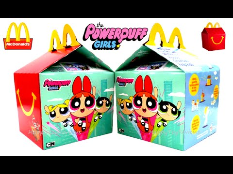 2016 mcdonalds the powerpuff girls happy meal box ppg set