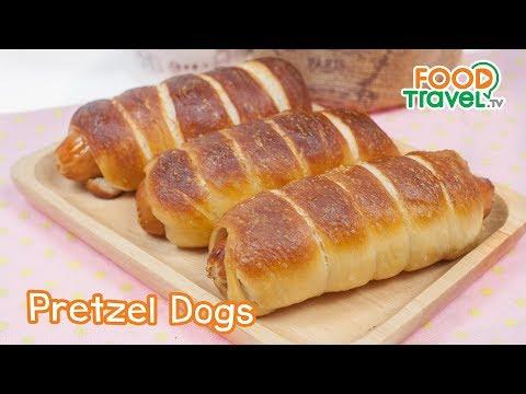 เพรทเซลด็อกส์ Pretzel Dogs   FoodTravel ทำขนมปัง - วันที่ 11 Nov 2018