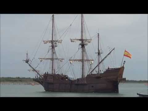 Viva Florida 500 Spanish Ship Sails Into Port Canaveral