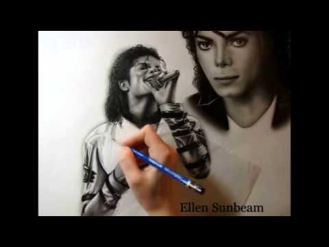 Portrait of the King of Pop - Michael Jackson (by Ellen Sunbeam)