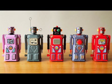 Meet the Gang of Five Robots - Collectible Japanese Toys