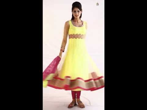 Prerna Bhardwaj Women Lemon Anarkali Suit