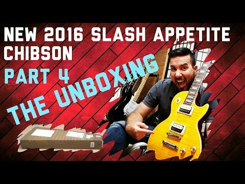 New CHIBSON – Slash Appetite Les Paul – Part 4: Unboxing