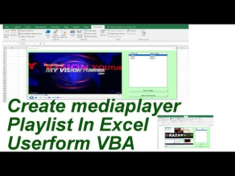 Create Mediaplayer Playlist In Excel  Userform VBA
