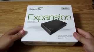 Unboxing - Seagate Expansion 4TB external USB 3.0 HDD