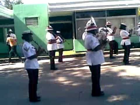 changing of the sentry at quarterguard police hq nassau bahamas part 2