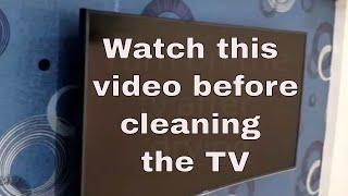 टीव्ही साफ करने से पहले इस विडियो को जरूर देखे | How to clean flat   screen TV   |LED TV cleaning