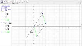 vektordifferens og koordinater geogebra
