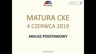 Matura CZERWIEC 2019 matematyka - podstawowa - rozwiązania krok po kroku