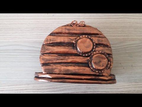 Kartondan peçetelik yapımı / Steampunk napkin holder/Geri dönüşüm