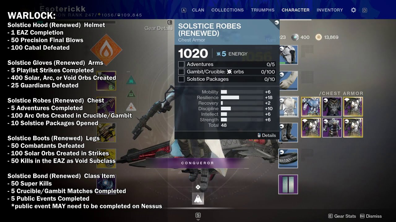 Solstice of Heroes Armor Upgrade Requirements - All 3 ...