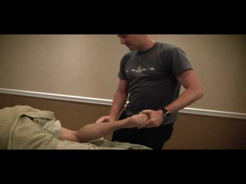 Massage Class Calgary - Terry working on Yasir North America massage part 2