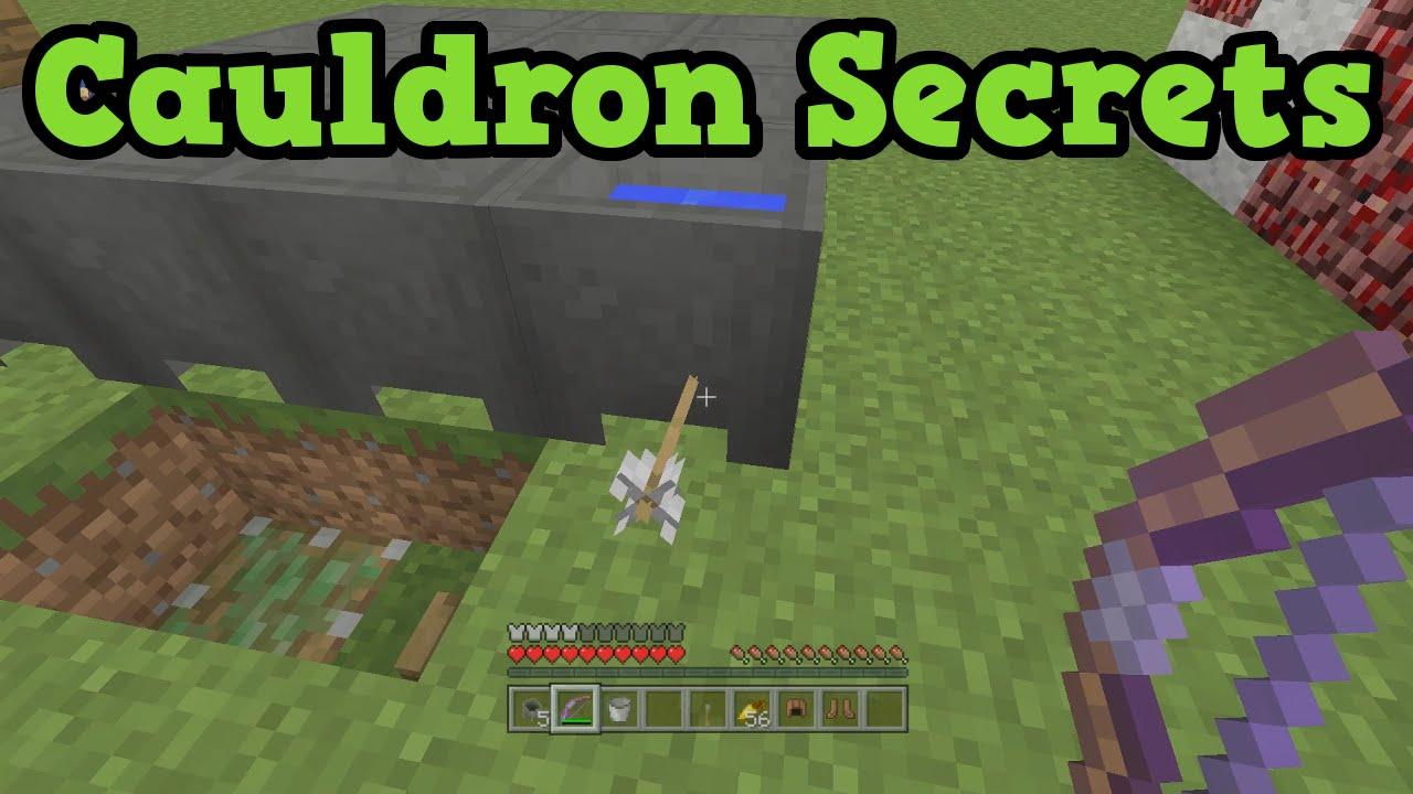 Minecraft Xbox 360 Ps4 5 Cauldron Secret Uses Youtube