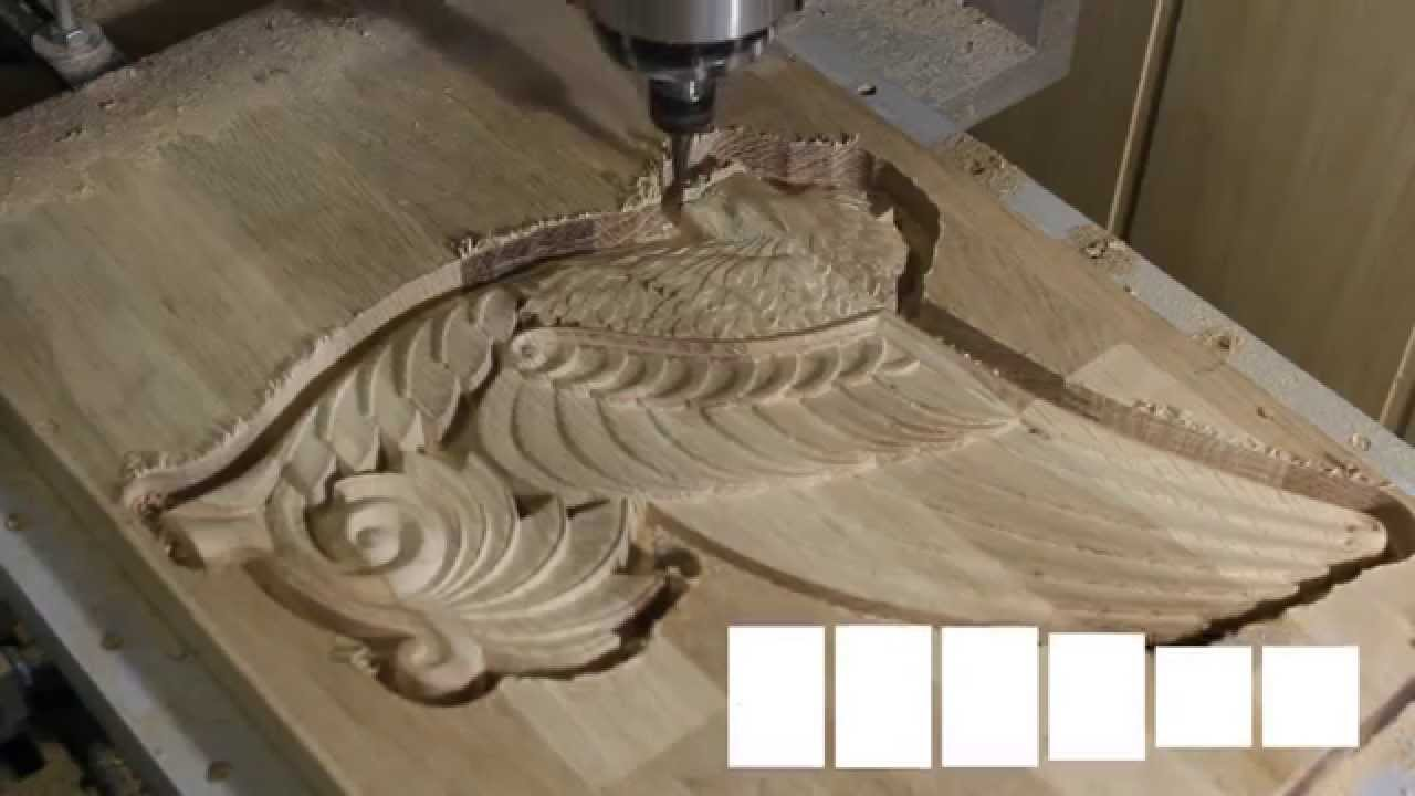Desktop Cnc Quot Komar Quot Milling 3d Relief On Wood Youtube