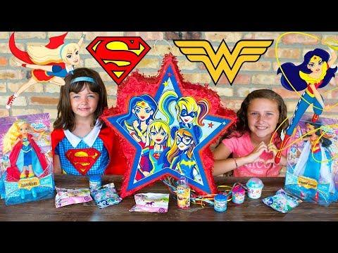 HUGE Supergirl Surprise Toys Opening DC Superhero Girls Blind Bags Eggs Girls Toy Kinder Playtime